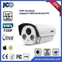 hot sale 720P image POE power bullet IR P2P ip cctv camera system