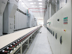 construction gypsum board line with heat resource of gas