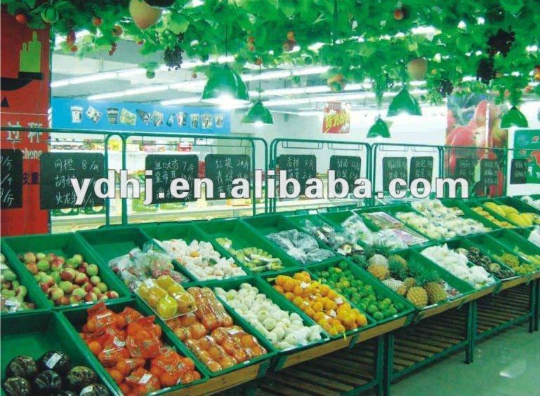 Fruit And Vegetable Display Racks For Supermarket