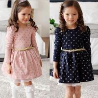 Girls Polka Dots Lace Patterns Princess Dress For Girls