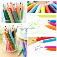 5pcs/lot Best Promotion Excellent Highlighter Fluorescent Liquid Chalk Marker Pencils Shape Watercolors Fit For School Supplies