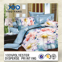 2014Hot Sales 3D printed bedsheet fabric for quilt cover/polyester bedsheet fabric