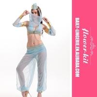 Wholesale Women's Sexy Halloween Adult Costume Deluxe Dreamy Genie Costume Blue Costume