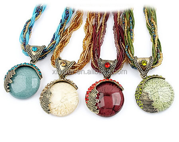 Wholesale fashion handmade seed bead chain natural stone for Natural seeds for jewelry making
