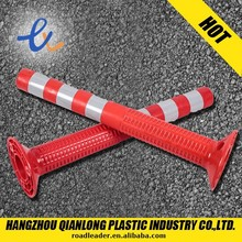 shorting customized flexible lower warning post/delineator