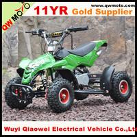 QWMOTO 2 stroke 49cc 50cc mini gas bike kids quad bike ATV with pull starter for sale