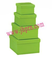 forest green nesting boxes in rigid cardboard