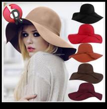 Women Floppy Derby Hat Wide Large Brim Girl Summer Beach Sun Straw Hat