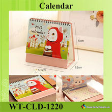 WT-CLD-1220 2015 New Products 3d / Stand Up Desktop Calendar