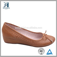 Comfort women wedge shoes, women round toe wedge pumps