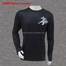 Customize skin tight t shirt long sleeves designed
