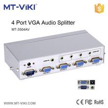 MT-VIKI 4 port metal housing VGA splitter stereo audio high technology vga quad splitter