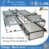 SPT Automatic Flat bed PU/leather/eva/slipper/textile/fabric/garment/glass/sillicon rubber Silk Screen Printing Machine for sale