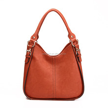 2015 Trendy PU Leather Women Hobo Shoulder Bag Handbag with Double Handles,Guangzhou China,Wholesale Price with High Quality