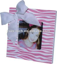Best Quality Square Wooden Frame with ribbon