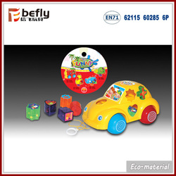 Pull and push plastic cute car intelligent new toys 2015 for baby