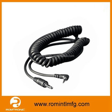 super performance spiral cable with right angle 3.5mm connector for better use