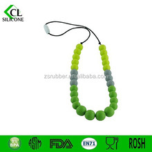 Best present for baby nontoxic Silicone necklace Teether