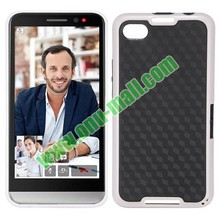 Wholesale Dual Color Rhombus Pattern TPU Case Cover for BlackBerry Z30 & A10