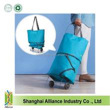Folding Shopping Trolley Bag with 2 Wheels / Vegetable Shopping Trolley Bag