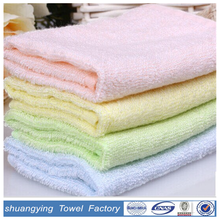 100% bamboo fabric small absorbing square hand towel for baby
