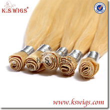 K.S WIGS Premium Quality Colored wholesale 100% hand tied virgin Russian remy hair weft