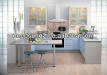 Simple design combinated bar table kitchen cabinet with blum hardware