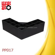 black wooden grain plastic tapered sofa leg for furniture PP017
