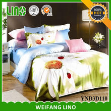 american size bed sheet set/cartoon bed sheet sets/3d bed sheet set