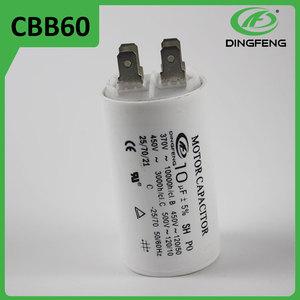 Ahorrar 10% china carcasa de plástico precio lista de pernos del motor condensador cbb60 condensador con 2 horas respondieron