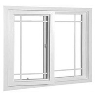 PVC plastic sliding glass window price