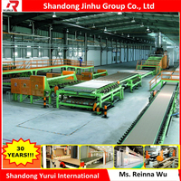 Automatic paper faced gypsum board production line
