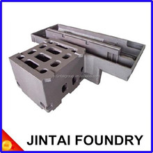 Resin Sand Gray/Ductile Iron Casting boring machine cast iron machine bed