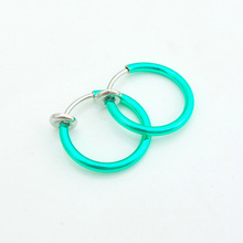 Wholesale small hoop no piercing clip alloy earring ,accessories ,factory cost price