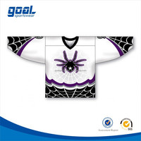 Digital printing dye sublimated custom made field dry fit ice hockey jersey