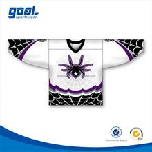 Digital printing dye sublimated custom made field dry fit ice hockey jersey