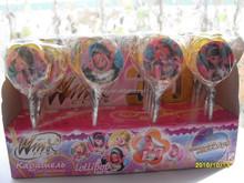 Winx crystal flat round shape colorful rainbow Lollipop Candy