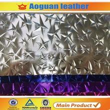 2016 the most popular new design start pattern shiny bag material pvc vinyl