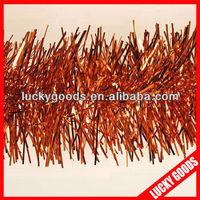 glitter thick hanging christmas orange tinsel wholesale
