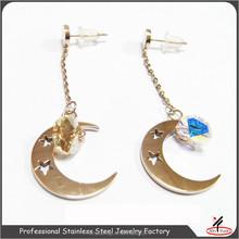 designer brilliant diamond stud earrings hanging stud earrings