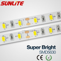 Korea Samsung 5630 smd led strip 24V ce rohs 60-led/m flexible 5630 led strip