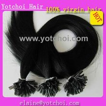 """Best selling products 1g/strand 22"""" #1 silky straight 100% human hair u tip hair extention"""