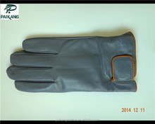 Men blue-gray sheep leather fashion gloves