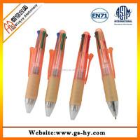 4 in 1 promotional pens short plastic ball point pen
