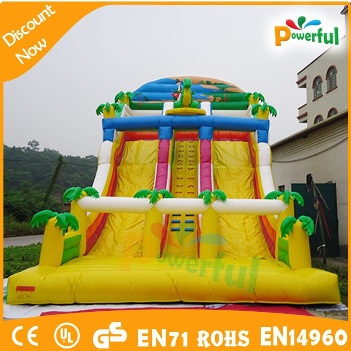 Melhor venda de dragão gigante slide dinossauro, usado comercial escorregas de água