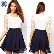 2015 new style women clothing of summer dress polyester lace dresses