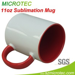 sublimation color cup ,Inner and Handle Color Mug
