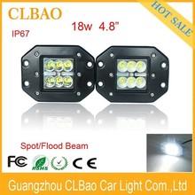 High quality car headlight projector lens lighting 10V-30V Auto 18w LED Work Light