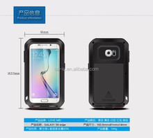 Love Mei Snow Dirt Shock Proof Case Aluminum Polymer Bezels Case for Galaxy S6 Edge G9250