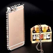 Diamond Bling Eyes Shape Metal Bumper for iPhone 6, Mobile Phone Case Bumper for Apple for iPhone6